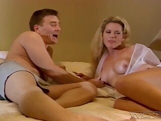 Nice tits and ass wifey Johnni Black moans during nice sex