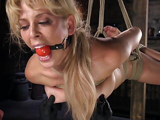 Cherie DeVille tied up added to fucked roughly the brush cunt there a dildo