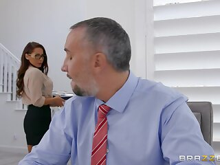 Secretary wants the boss's grown dick relative to both will not hear of tiny holes