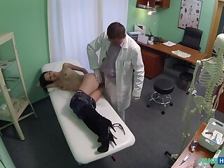 Milf wants breast implants and gets a creampie injection instead