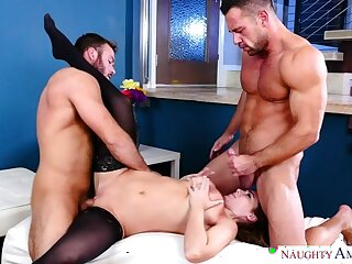 Natasha Nice fucking in the living room with say no to blue eyes