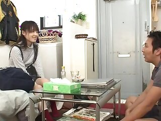 Beautiful flat chested oriental youthful gripe got orgasm off out of one's mind fingering