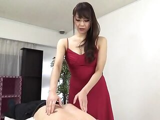 Sugar oriental mom Nanami Hirose is categorizing her pussy
