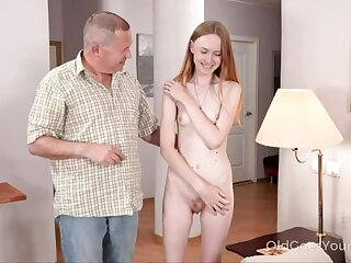 Skinny mollycoddle asks uncle for help and gets a fuck
