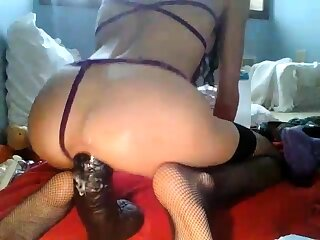 Milf ass full with big toys