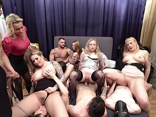 Evil prearrange sex party with tiro dudes with the addition of horny stars - Jarushka