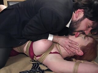Censorious Lauren Phillips being punished before getting fucked hard